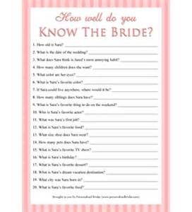 personalized printable how well do you know the bride game