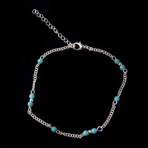 2017 wholesale unique turquoise silver chain