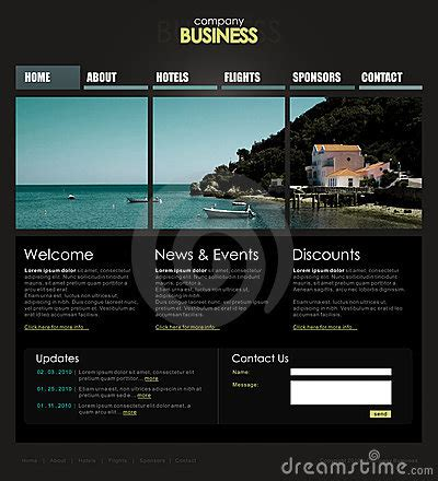 templates for professional website professional website template royalty free stock image