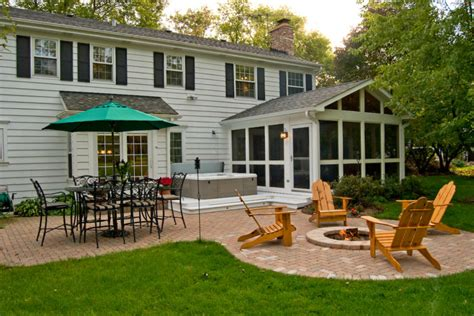 backyard screened porch screen porch with patio deck and hot tub archadeck of