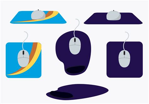 pad free mouse pad vector set free vector stock