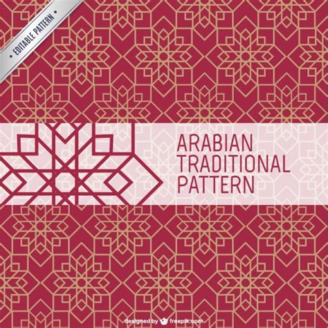 islamic style seamless pattern vector free download arabian traditional pattern vector free download