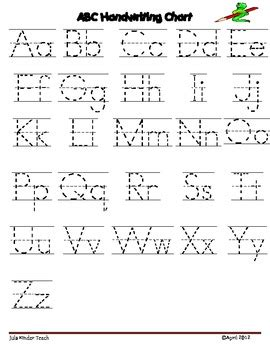 printable alphabet tracing chart it is free alphabet letter writing chart use these