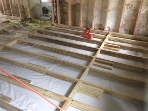how to frame a floor framing a floor concrete carpentry contractor talk