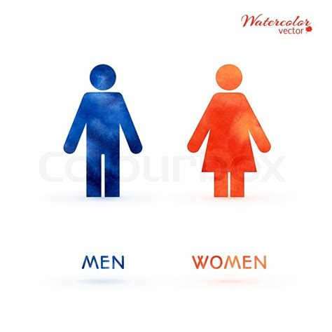 Symbol For Bathroom by Watercolor Signs Toilet Changing Room Male Female Wc