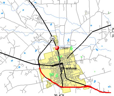 map of brenham texas city data