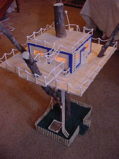 craft stick projects popsicle stick tree house 3rd grade treehouse project