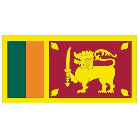 Search Sri Lanka Sri Lanka Vector Flag At Vectorportal