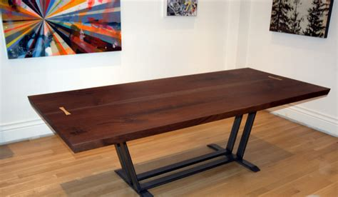 black walnut dining table from cherrywood studio