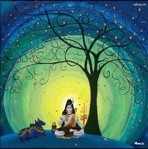 lord shiva  nandi art background hd mobile wallpaper