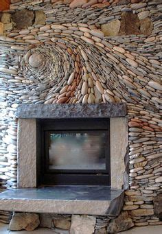 1000 ideas about river rock fireplaces on pinterest faux stone fireplace
