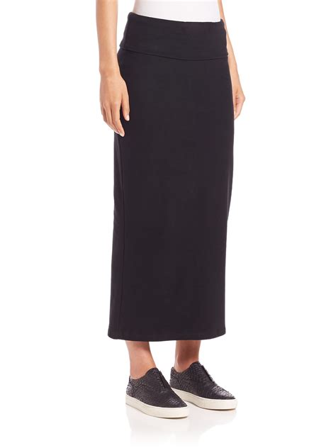 maxi black pencil skirt dress ala