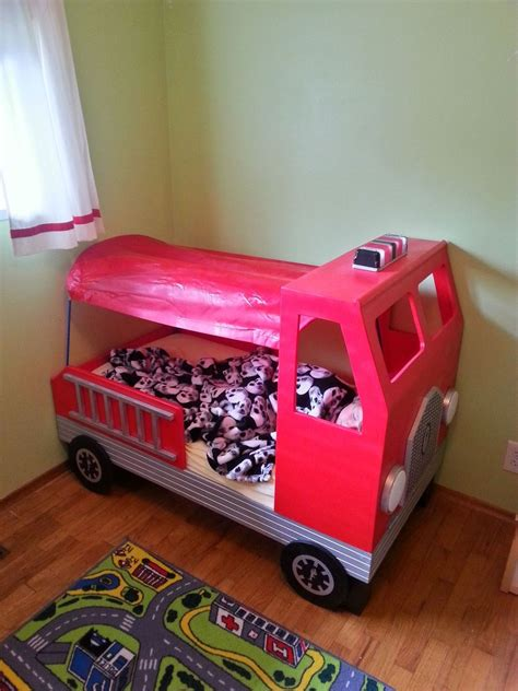 fire engine toddler bed hometalk fire truck toddler bed