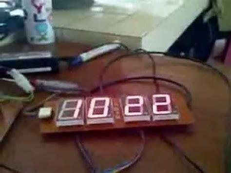 membuat jam digital menggunakan 7 segmen jam digital 7 segment tanpa rtc ds1307 youtube