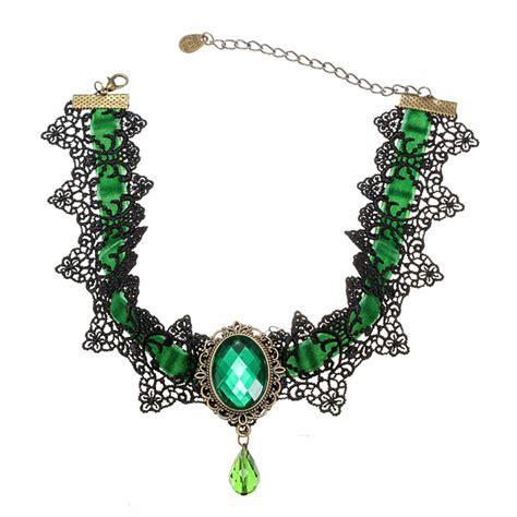 Gemstone Lace Choker buy black lace gemstone choker