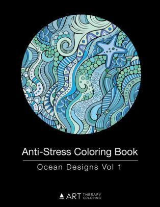 Anti Stress Coloring Book Designs Vol By Therapy