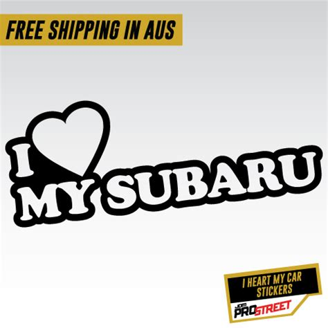 jdm subaru stickers i my subaru jdm car sticker decal jdm prostreet