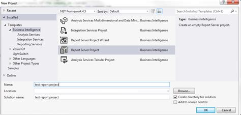 business intelligence templates for visual studio 2012 visual studio do business intelligence projects support