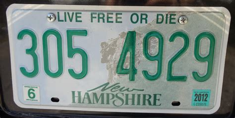 vehicle registration plates of new hshire