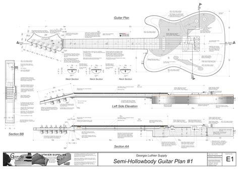 electric acoustic guitar plans hollowbody electric guitar plans 1 electronic version
