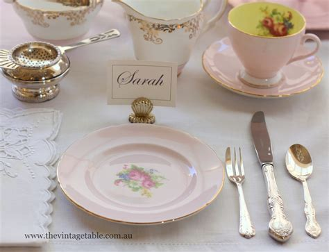 Table Setting Etiquette by Setting The Table Place Settings The Vintage Table