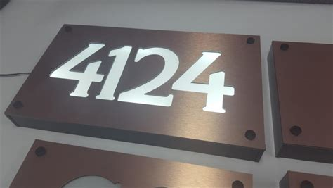 led lighted address signs led lighted street address numbers house signs