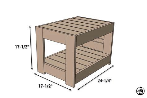 belvedere outdoor end table plans restoration hardware
