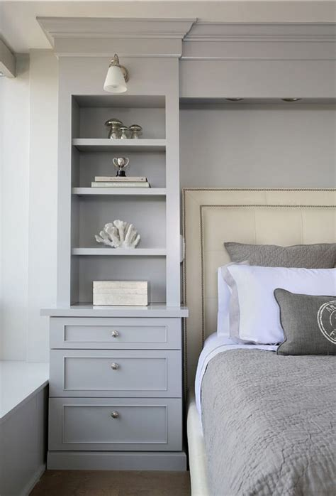 built in bedroom storage housing industry guest rooms built ins and side tables
