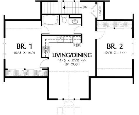 2 bedroom guest house plans two bedroom guest suite over 3 car plan 69395am 2nd