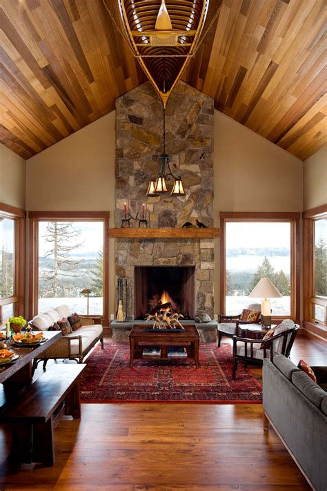 Mountain Home Interiors by Mountain Architects Hendricks Architecture Idaho Small