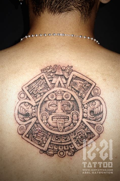 small aztec tattoos aztec images designs