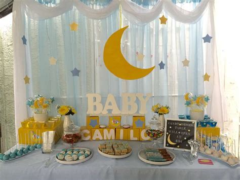 Moon And Baby Shower Ideas by Twinkle Cand Dessert Table Baby Shower