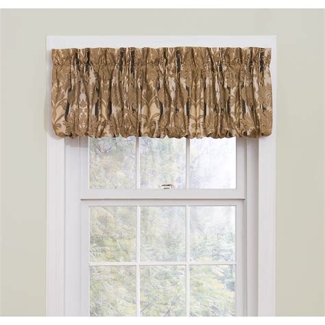 Black Window Valance Essential Home Pouf 72x18 Black Window Valance