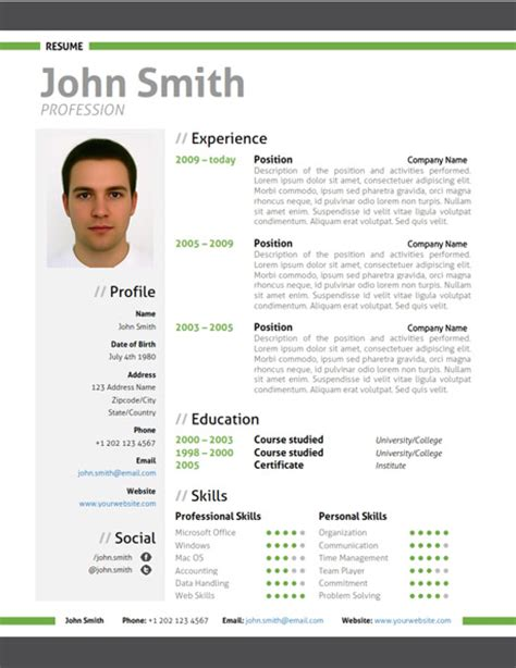 Attractive Resume Templates by Most Attractive Resume Templates Resume Templates 2017