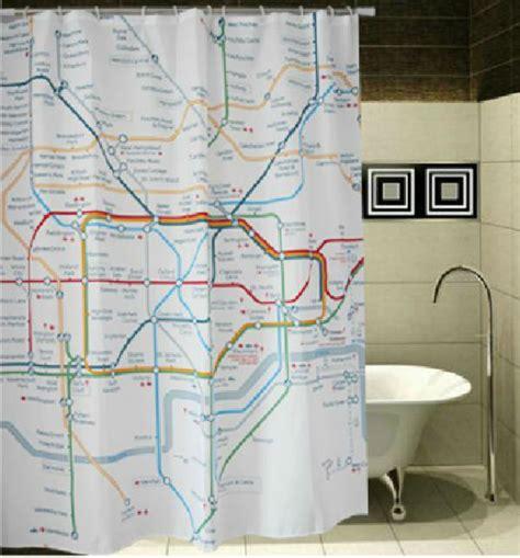 nyc subway map shower curtain london subway map underground cool design 178x178cm