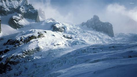snowy mountain peaks  wallpaper nature wallpapers