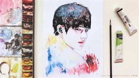 watercolor edit tutorial tumblr bad infinite l 인피니트 엘 myungsoo 명수 watercolor portrait