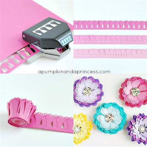 paper flower cutting tutorial image gallery homemade paper die cutters