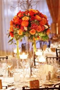 fall wedding centerpieces photo via