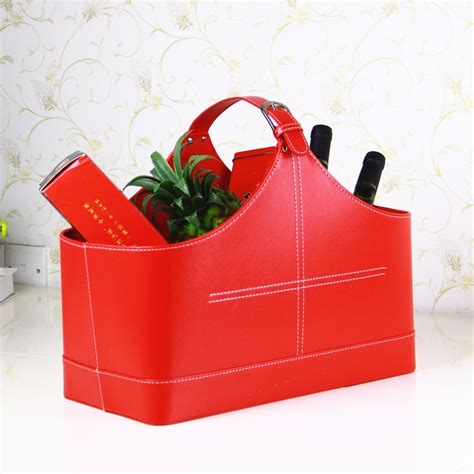 wholesale high quality red wicker small gift baskets for
