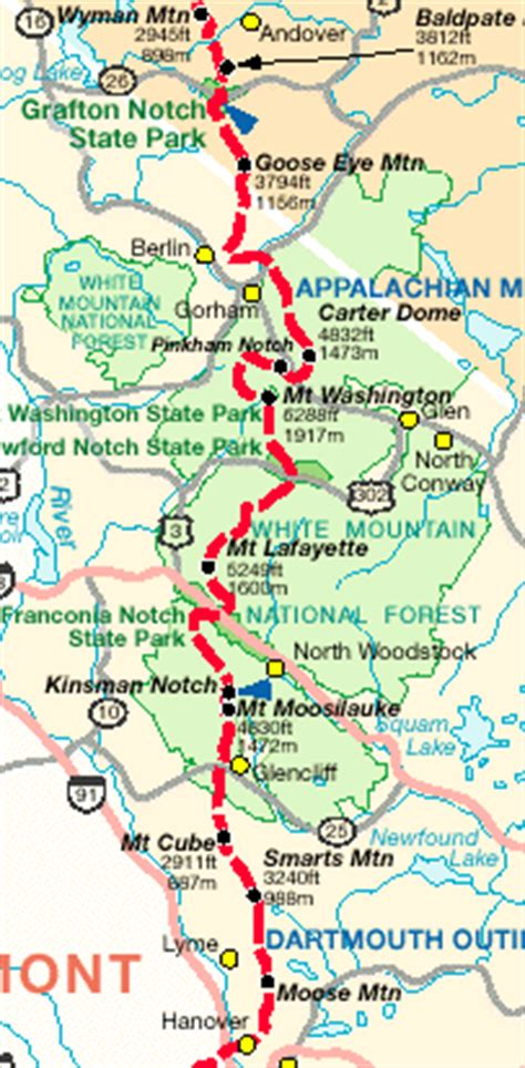 new hshire section 8 appalachian trail planner