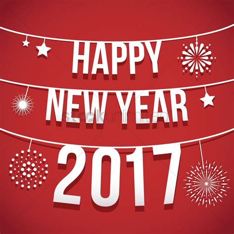 new year date on 2017 happy new year 2017 vector image 1913121 stockunlimited