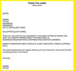 best photos of thank you business letter format business