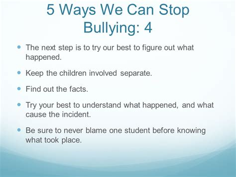 preventing bullying in schools ppt
