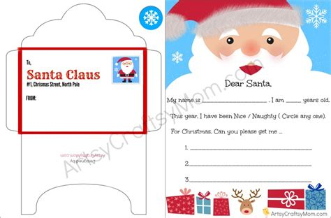 free printable letters and envelopes from santa free printable letter to santa and envelope for children