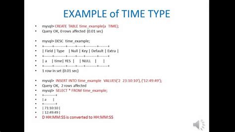 mysql format date as timest mysql date and time type tutorial hd youtube