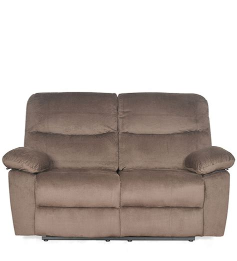 Two Seater Recliner by Rays Two Seater Recliner In Brown Colour By Home By Pepperfry Two Seater Furniture