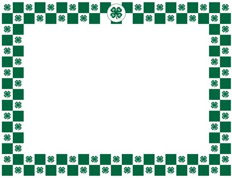 4 h thank you card template 4 h clover border 4 h graphics