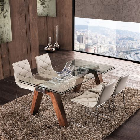 tavolo piano in vetro tavolo in vetro allungabile moderno design originale