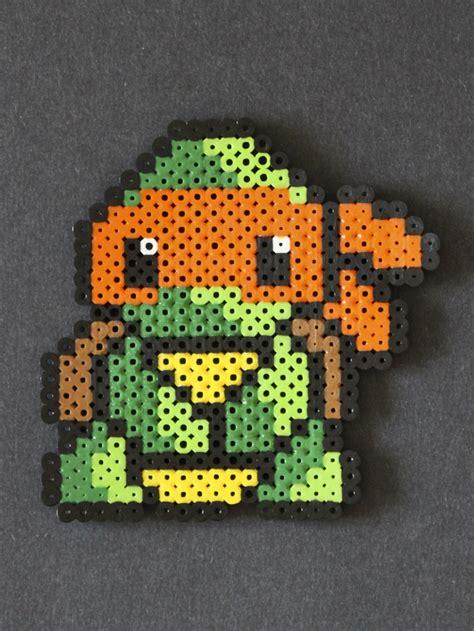 turtle perler michelangelo turtle perler bead sprite perler